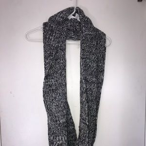 J Crew Black and White Knit Infinity Scarf